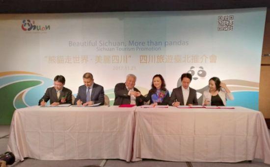 两地旅游同业签订战略合作协议。(四川省旅发委供图)