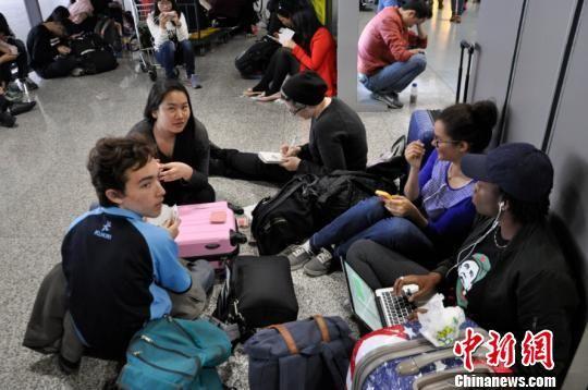 图为等待值机的旅客。 杨珺 摄