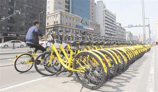 共享单车不仅绿色环保还极大地方便了市民的出行 本报资料图片 摄影 刘阳