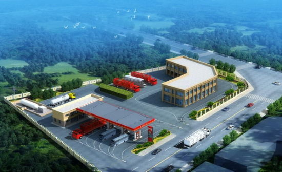 邛崃LNG加气站项目规划图
