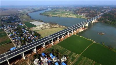 简蒲高速公路沱江特大桥 四川省交通运输厅供图