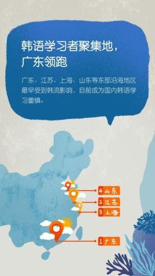 韩语学习用户主要分布在广东、山东、江苏和上海四地 沪江 摄