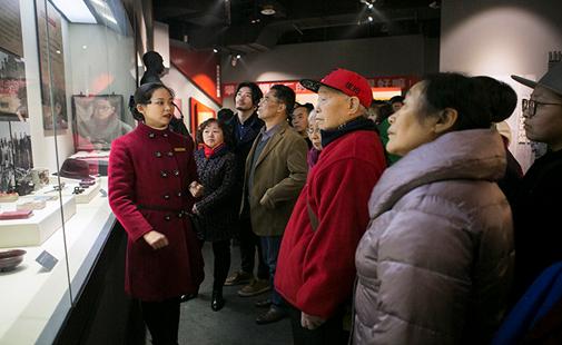 十组家庭观光三线扶植博物馆。 钟欣 摄