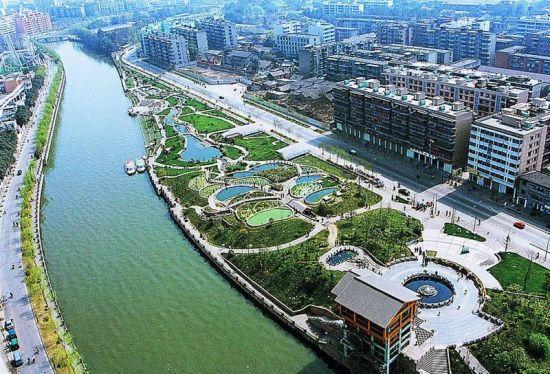 成都母亲河府河景观生态带