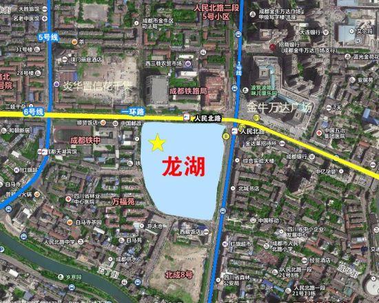 龙湖一环心项目位置示意