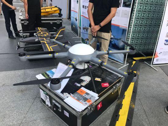 现场展示的DB-2测绘型无人机。