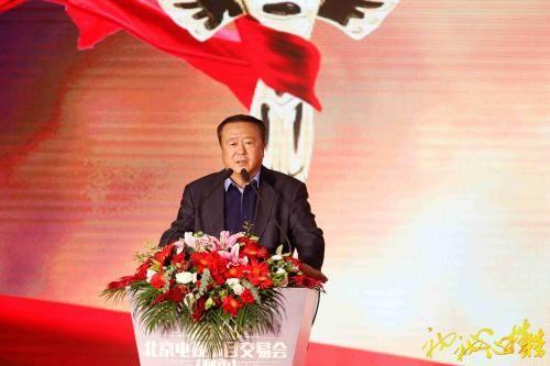 初心榜颁奖典礼,中国电视剧制作产业协会会长尤小刚致辞。来源:主办方供图