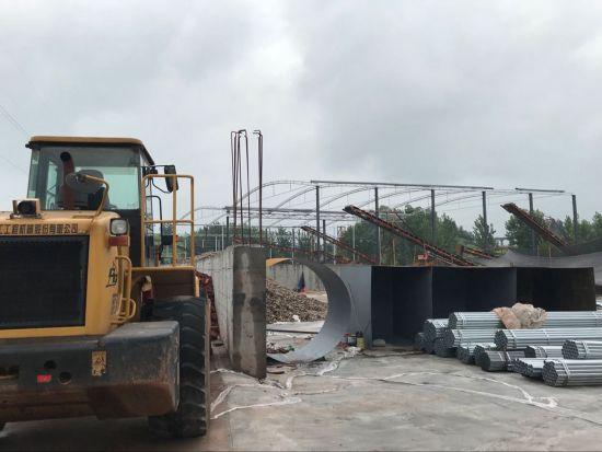项目建设现场(沿滩区委宣传部 供图)