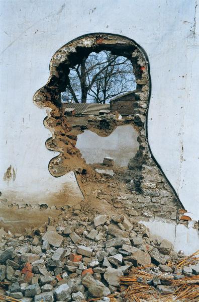 张大力作品——拆——西单时代广场,1999年