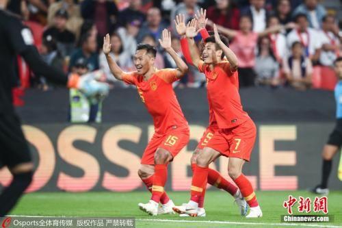 中国队庆祝进球。图片来源:Osports全体育图片社