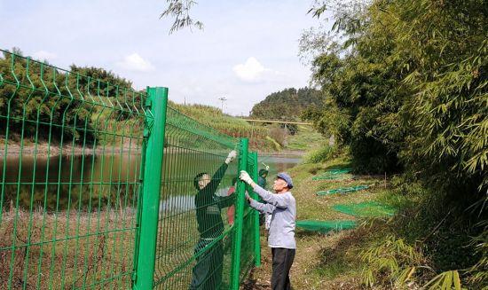 饮用水保护隔离网安装(刘�k彬 供图)