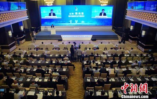 海峡两岸电子信休产业对接交流会23日正在成都举办。 刘忠俊 摄
