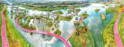 位于鹿溪智谷创新带的智谷绿道,依托鹿溪河滨水而下,引领天府新区城市建设面水发展、拥水发展,规划总长115公里。 白桦摄