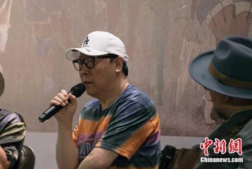 倪大红在话剧《安魂曲》主创分享会现场。《安魂曲》剧方供图