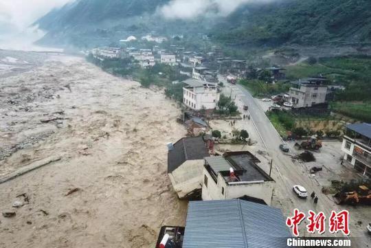 汶川县突发泥石流灾害,造成多条道路中断,各个乡镇不同程度受灾。澳门博彩十大网站排行自然资源厅 供图