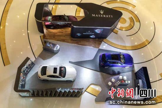 现场展示的玛莎拉蒂车型。