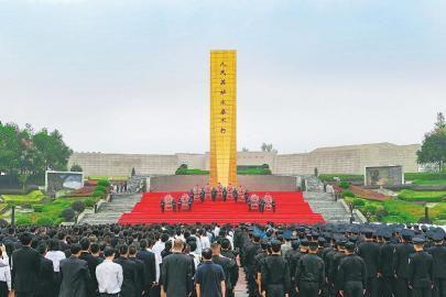 四川省隆重举行向人民英雄敬献花篮仪式