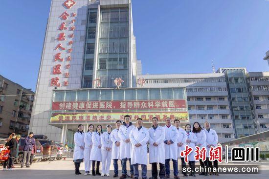 会东县人民医院大楼。 钟欣 摄