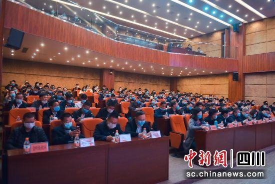 会东县日前召开2020年创建省级文明城市工作推进会。 任方祥 摄