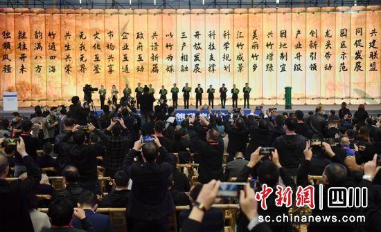 四川、浙江、福建、江西4省14个城市共同发起的中国竹产业高质量发展联盟正式成立。记者刘忠俊摄