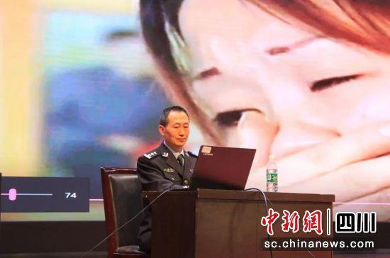 省眉山强戒所进校园开展禁毒宣传。四川省司法厅供图