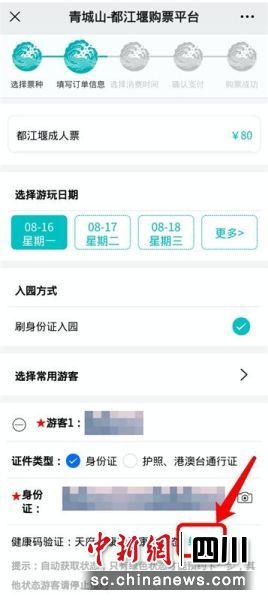 正确填上姓名身份证号,平台将自动获取健康码状态(绿码即可成功购票)。主办方供图