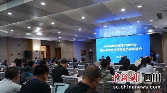 开幕式上,四川省文化和旅游厅党组成员、副厅长,四川省文物局局长王毅讲话。(成都文物考古研究院供图)