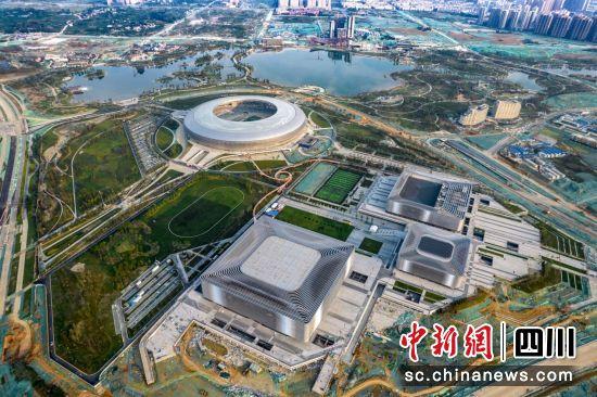 成都大运会赛事转播风景候选点位――东安湖体育公园(世界大运公园)。(成都大运会执委会供图)