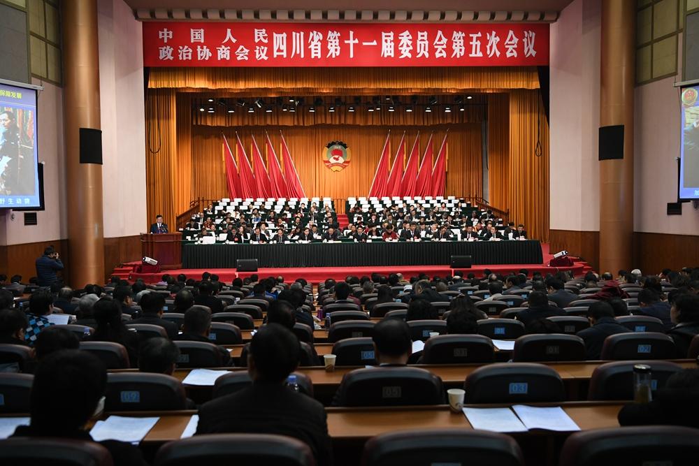 四川省政协十一届五次会议举行第三次全体会议